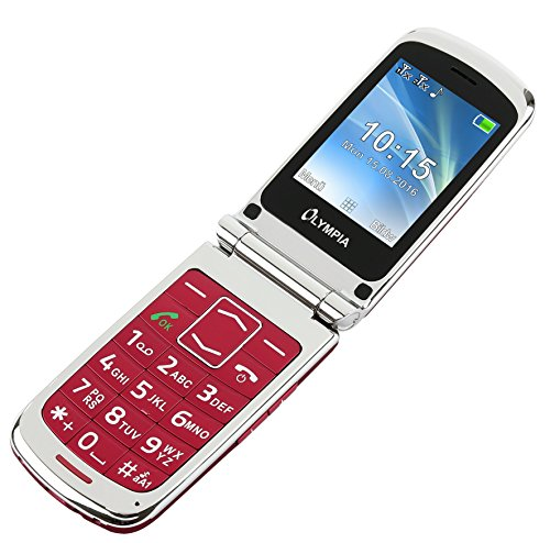 Image of OLYMPIA Modell Style Plus Komfort-Mobiltelefon mit Großtasten und Farb-LC-Display rot