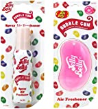 JELLY BELLY BUBBLE GUM BEAN SWEET 3D HANGING + SPRAY SET SCENT AIR FRESHENER