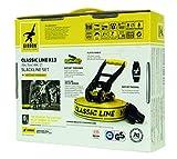 Gibbon Slacklines Classic Line, Gelb, 15 Meter (12,5m Band + 2,5m Ratschenband), für Anfänger, Beginner und Einsteiger, inklusive Ratschenschutz und Ratschenrücksicherung, 50 mm breit, perfekter Freizeitsport - 5