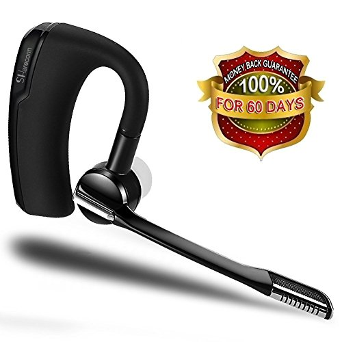 Bluetooth Headset,SHareconn Hand Free Wireless Ohrhörer Sweatproof Rauschunterdrückung Ohrhörer mit Mikrofon Crystal Clear Sound für Unternehmen/Truckers/Pilot Paar mit Android Iphone, Samsung PC Laptop