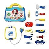 Xianjun Doctors Set, Toy Doctor Kit 15 pièces semblant & jouer Kit médecin avec stéthoscope électronique pour les filles et les garçons cadeaux de Noël classe école de Pâques...