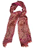 Collection Xiix Paisley Scroll Tie Dye Wrap Pink Fever