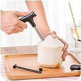 oumosi de noix de coco en acier inoxydable couteau Décapsuleur Outil poignée en plastique PP de noix de coco ouverture de paille de trous