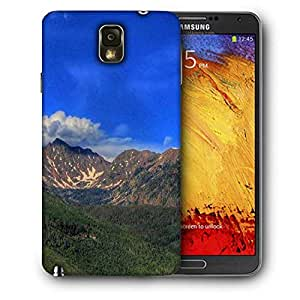 Snoogg Abstract Dark Blue Sky Printed Protective Phone Back Case Cover For Samsung Galaxy NOTE 3 / Note III