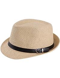 YESURPRISE Chapeau de paille Femme Homme Panama Chapeau de Plage
