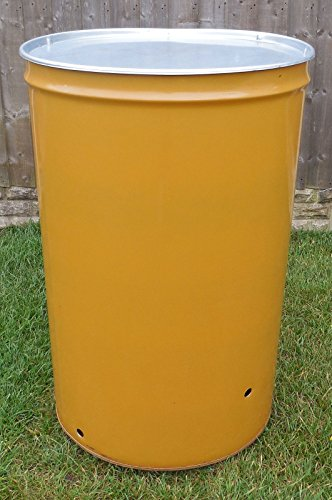Keto Plastics 210 LITRE LARGE GARDEN INCINERATOR/BURNER/BONFIRE BIN FOR WASTE/RUBBISH/LEAVES - WITH LID