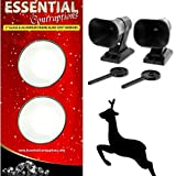 Power Auto Car Mirror Blind Spot Mirrors and Deer Alert Warning Whistles [Bundle
