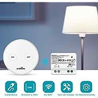 Kit de Interruptor inalámbrico para iluminación Montaje Flexible Transmisor Libre con Mando a Distancia Receptor Casa Iluminación y Electrodomésticos