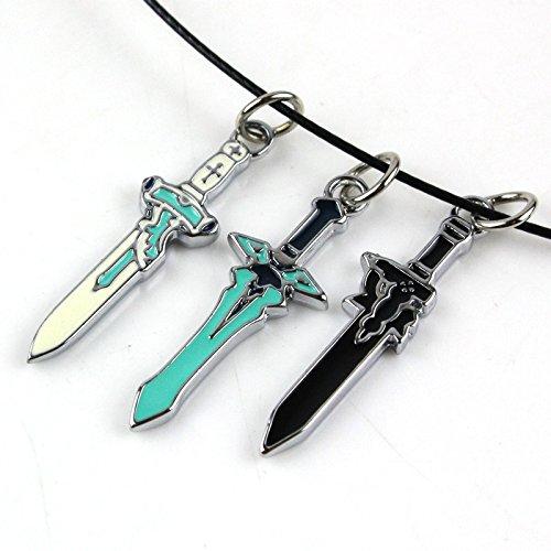 Sword Art Online Yuuki Asuna Elucidator collana Sword Art Kirito Collana online