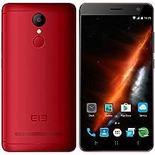 Elephone A8 Smartphone 5.0 Pulgadas de Pantalla Android 7.0 con MT6580 Quad Core 1.3GHz 1GB RAM 8GB ROM 1800mAh Batería Dual SIM Dual Standby GPS WIFI Bluetooth Fingerprint-Rojo