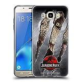 Head Case Designs Ufficiale Jurassic Park T-Rex Segno di Artiglio Logo Cover in Morbido Gel Compatibile con Samsung Galaxy J5 (2016)