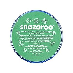 Snazaroo - Pintura facial y corporal, 18 ml, color verde brillante