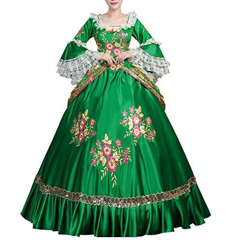 s Kleid Renaissance mittelalterliche Maxi Kostüm Halloween (Renaissance-festival-halloween-kostüme)