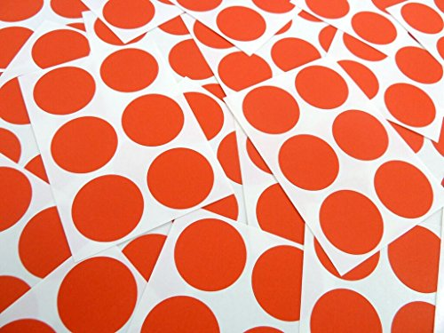 102 etiquetas, 25 mm redonda, Red, código de color pegatinas, AUTO-adhesivo stevestickers puntos