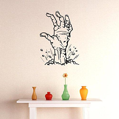 (ShopSquare64 Hallowen Geist Hand Glas Fenster Dekor Wandaufkleber Party Haus Dekoration Kreative Aufkleber DIY Wandbild Wandkunst Aufkleber)