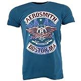 Aerosmith Boston Pride Denim Blue T-Shirt Official Licensed Music