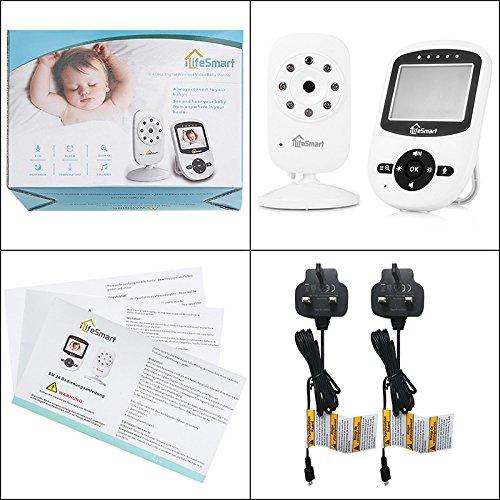 iLifeSmart SM24 Video Baby Monitor 2.4 Inch Babyphone mit Nachtsicht Temperaturüberwachung und Timer-Einstellung Funktionen Drahtlos Digital Kamera - 9