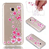 Coque Cover A5 2017, Cozy Hut Samsung A5 2017 Coque Housse Etui anti chocs Back Cover Bumper Case Anti Scratch Shock Absorption for Galaxy A5 2017 Souple Silicone Etui Samsung Galaxy A5 2017 Housse étui de Protection en TPU Souple Silicone Transparent Slim Doux Antichoc Ultra-Thin Fine Mince Premium protection Coque pour Samsung Galaxy A5 2017 - Fleur papillon rose