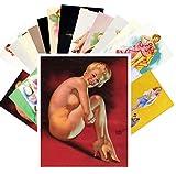 Pinup 24 Postkarten Vintage Pinup Sexy Girls by Earl Moran