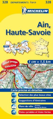 AIN / HAUTE - SAVOIE 11328 CARTE ' LOCAL ' ( France ) MICHELIN KAART (KAARTEN/CARTES MICHELIN)