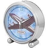 Fossil Uhr Wecker kontinuierliche Bewegung (vor nicht Ticken Desktop alcl-306retro-avión