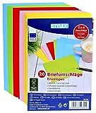 100 (5 x 20 enveloppes colorées c6 incluse multicolore