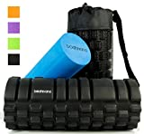 2-in-1 Foam Roller for Muscles: BEST QUALITY AND VALUE! Trigger Point Deep Tissue Therapy for Fast Muscle Pain Relief; Smooth Softer Roller Ideal for Sensitive Muscles; Free Travel Bag, INSTRUCTIONAL VIDEO AND 2 E-BOOKS WITH 26 OF THE BEST EXERCISES!