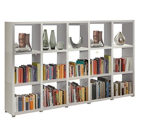 Regalsystem Raumteiler Bücherregal Standregal READY 35 Weiß Seidenmatt 234 x ...