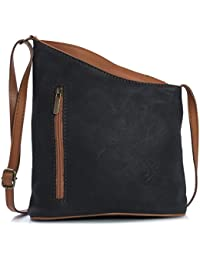 Big Handbag Shop Womens Small Genuine Soft Venenzi Italian Leather Cross  Body Bag 703474e18a428