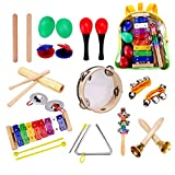 Kids Musical Instruments, Scoolr 22 Pcs Toddler Musical Toys Wooden Xylophone Glockenspiel Toy