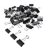 DEHAO 72 PCS Foldback Klammern Vielzweckklammern Büroklammern - Binder Clip 19/25/32mm Schwarz