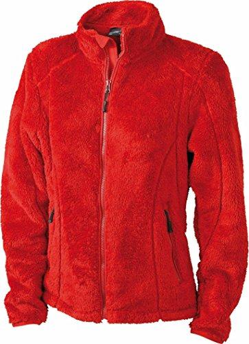 James & Nicholson N561 Sweat zippé en polaire pour femme Rouge - Rouge