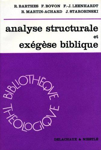 Analyse structurale de l'exégèse par Collectif