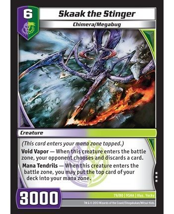 Kaijudo TCG - Skaak the Stinger (79/80) - Shattered Alliances by Kaijudo: Rise of the Duel Masters