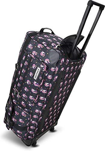 normani Leichte XXL Reisetasche Rollenreisetasche Trolley Sporttasche mit Rollen Farbe Unique Unicorns / 100 Liter