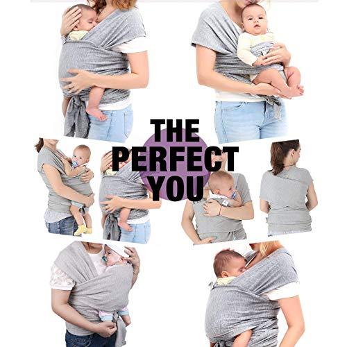 Babytragetuch, Babybauchtrage aus Baumwolle Innerhalb 15KG Atmungsaktiv Babybauchtrage Kindertragetuch Sling Baby Warp für Neugeborene,GRATIS 1x Baby-Lätzchen - 2