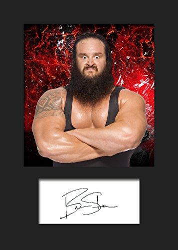 Braun strowman WWE # 1signiert Foto A5Print