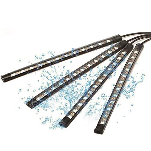 Unbekannt TCFQCDZ Autoinnenbeleuchtung, Auto-Atmosphären-Lichtleiste, Bluetooth-APP-Steuerauto-LED-Atmosphären-Lichtmodifikation Für Mobiltelefone (größe : Forty-Eight lamp Beads) (Auto-zubehör Kundenspezifische)