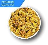 NEUE ERNTE Weiße Maulbeeren getrocknet - Unbehandelte Qualität | ungeschwefelt | ohne Pestizide | ohne Zusatzstoffe | Rohkostqualität | 100% naturbelasse Trockenfrüchte | Vegan | 1001 Frucht - 500 GR