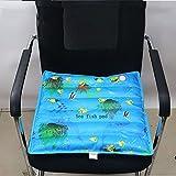 XGMSD Kühlwasser Pad Bürostuhl Kissen Kühlen Pad Schüler Kissen Sofa Kissen Wasser Haustier Kühlung Eis Pad,58*58CM-Marinefish