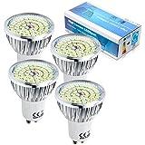 4er pack 6 Watt GU10 LED Lampe 48 SMD 2835 LED Spots Strahler AC 230V Echter 66 Watt Lampe Leuchtmittel 520 lumen Abstrahlwinkel 120° Kaltweiß 6500K