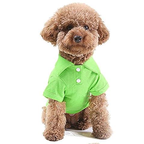 misterolina Cute Pet Puppy Sommer Shirt klein Hund Katze Kleidung Kostüm Bekleidung (Kleiner Hund Kostüme)