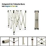 Vispronet Zeltgestell für Faltzelt Basic (Scherengittersystem) (3x3 m, Beige)