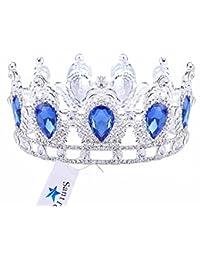 Santfe 2.5 Altura Brillantes Joya de la Corona Tiara para Boda Pageant Novia Princesa Diadema