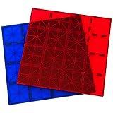 Kenley Magnetische Fliesen Stabilisator Teller–Set von zwei Add-On Expansion Board für Magnet Bausteine–30x 30cm quadratisch Foundation um größer Strukturen–funktioniert mit den meisten Marken