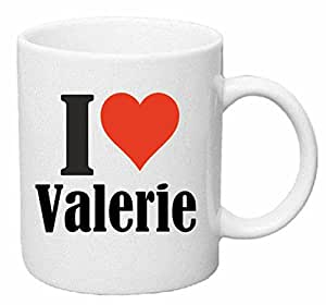 """Tasse de Café .. Tasse à Thé … Coffee Mug """" """"I Love Valerie"""" ... Hauteur 9 cm de Diamètre 8 cm Volume 330 ml ... Le cadeau idéal pour leur Partenaire - Collègue - Amis"""