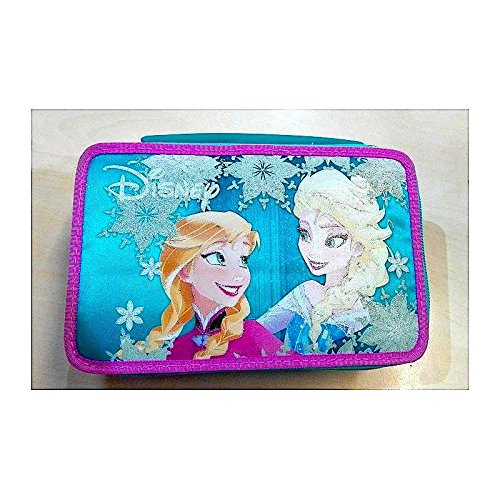 Astuccio seven 3 zip 20x12.5x7 cm - frozen love glows - si illumina al buio