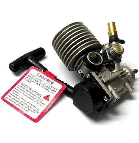 B7020 1/16 RC Glüh Nitromotor Rotierend Vergaser Seite Auspuff