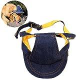 UEETEK Cappello da Baseball per Cucciolo di Cane Domestico Cappello da Viso Cappello Regolabile Cinturino del Reggiseno per L 40-48cm Circostanza del Collo