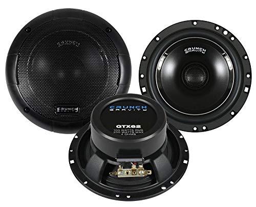 Crunch GTX62 Lautsprecher 400 Watt 16,5cm Koax inkl Einbauset für Nissan Pulsar ab 2015